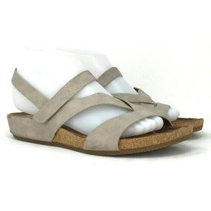 Euro By Soft Women's Beige Strapped Sandals Size 8